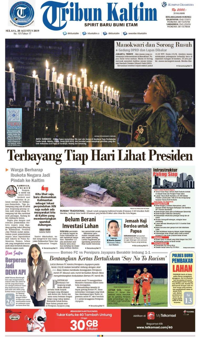 Tribun Kaltim Digital Newspaper 20 August 2019