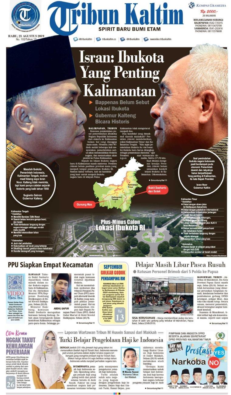 Koran Digital Tribun Kaltim 21 Agustus 2019
