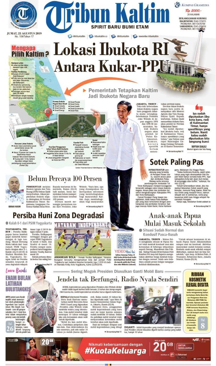 Koran Digital Tribun Kaltim 23 Agustus 2019