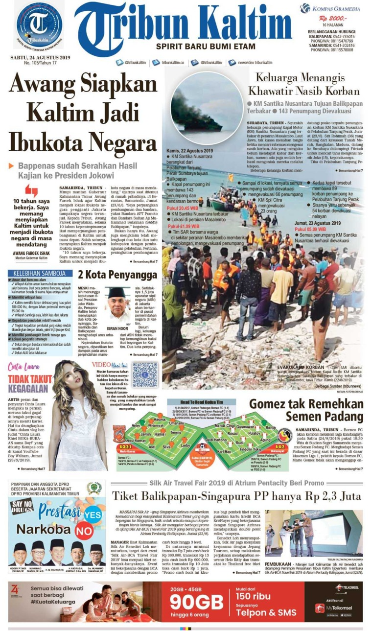 Koran Digital Tribun Kaltim 24 Agustus 2019