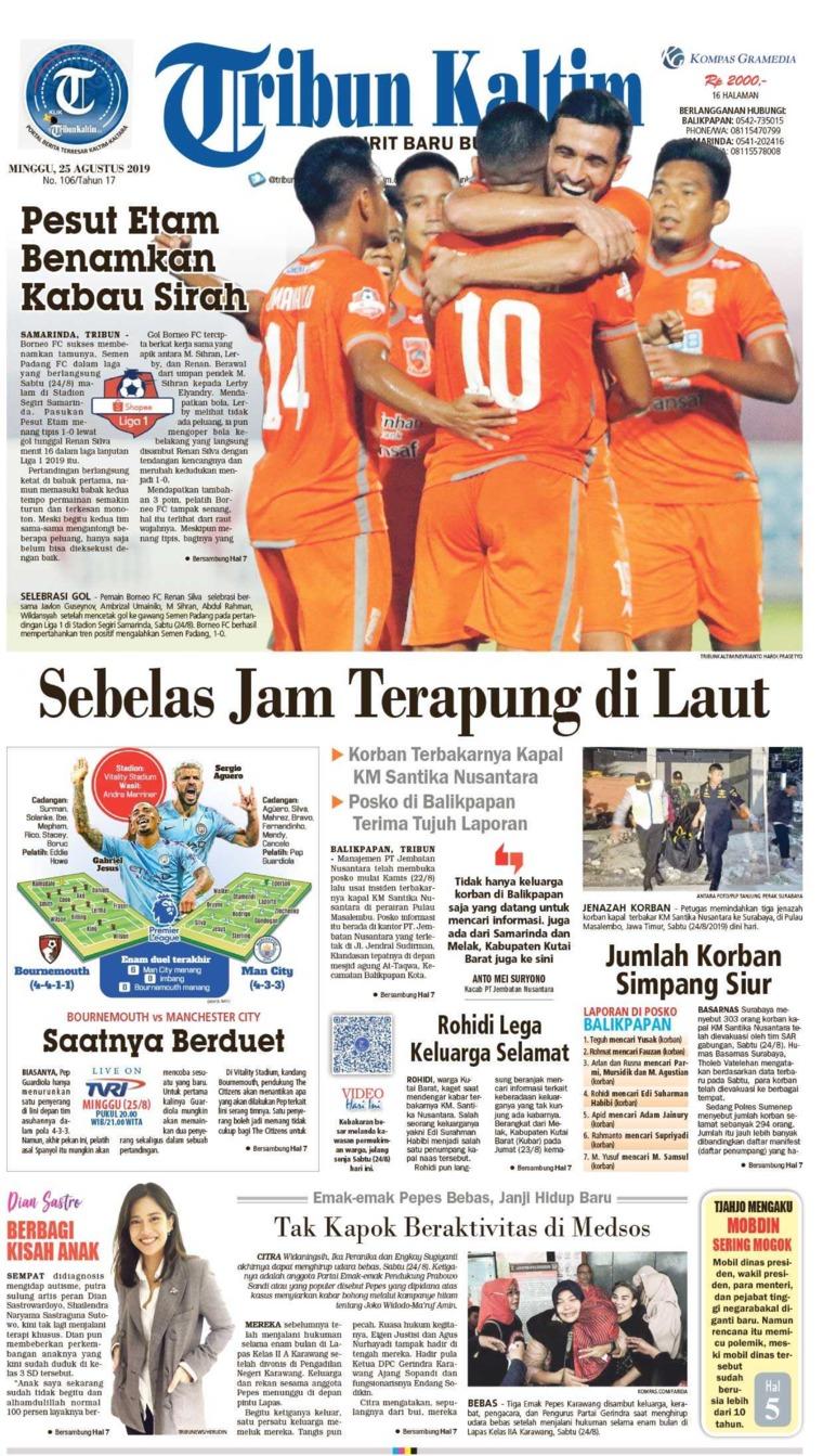 Koran Digital Tribun Kaltim 25 Agustus 2019