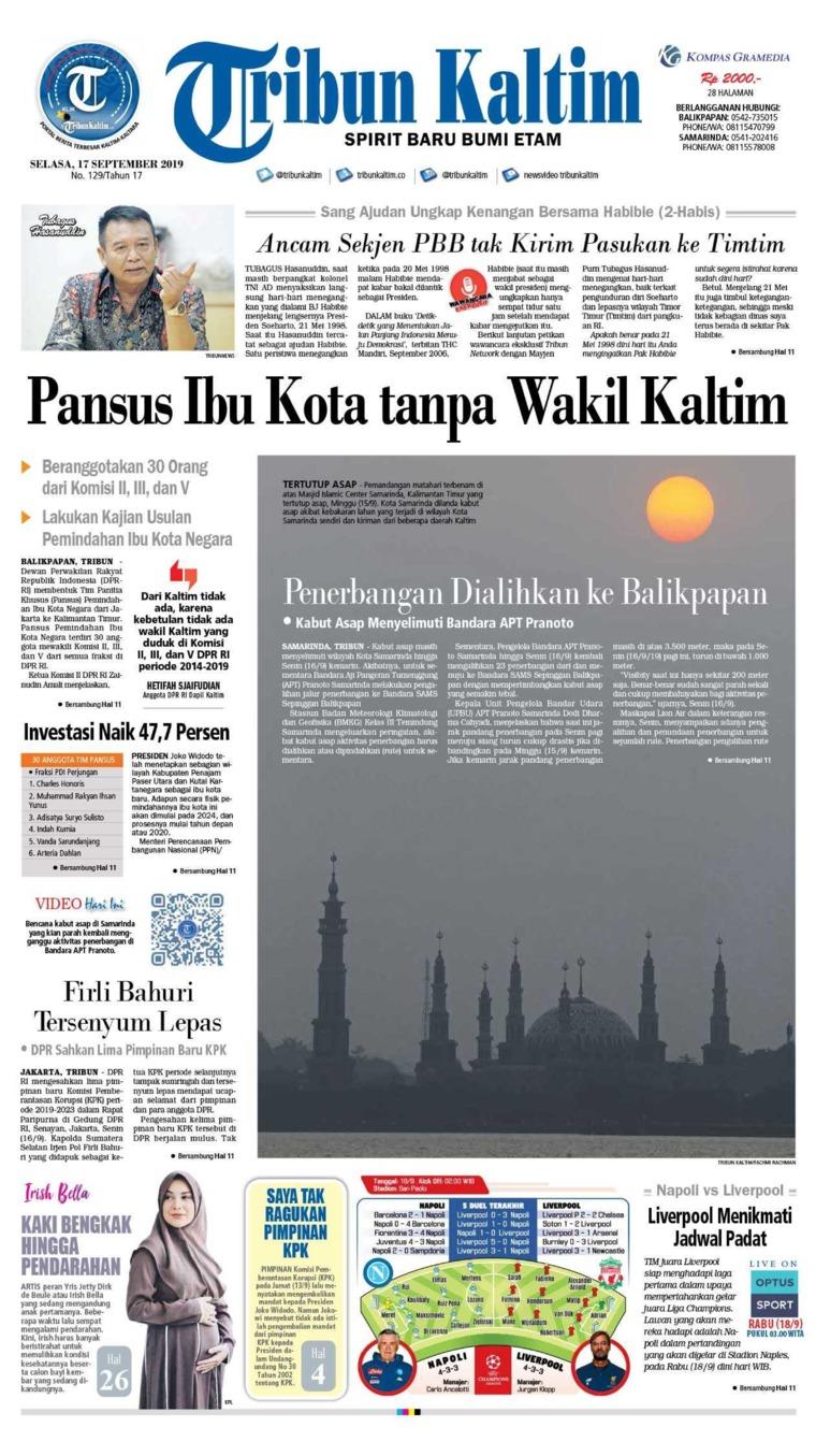 Tribun Kaltim Digital Newspaper 17 September 2019