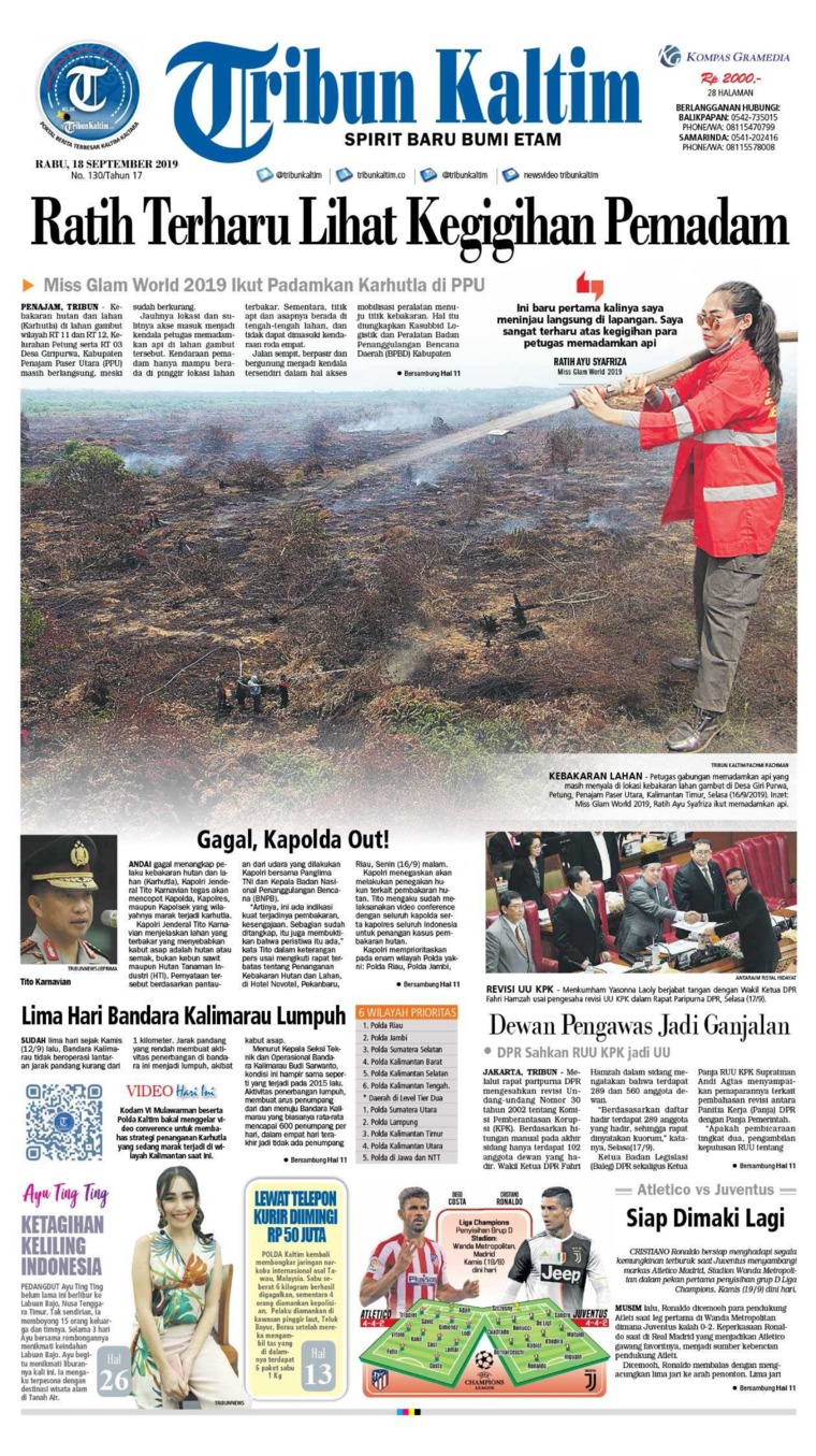 Tribun Kaltim Digital Newspaper 18 September 2019