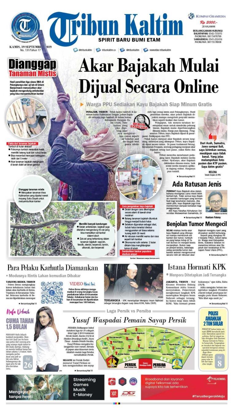 Koran Digital Tribun Kaltim 19 September 2019