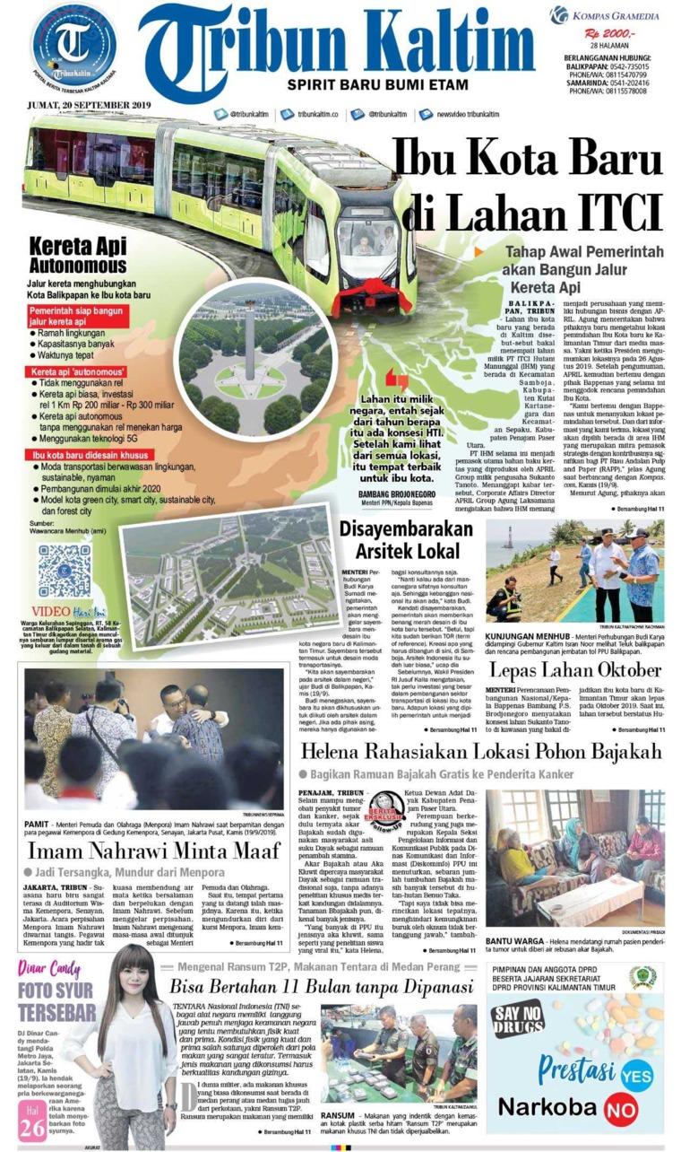 Tribun Kaltim Digital Newspaper 20 September 2019