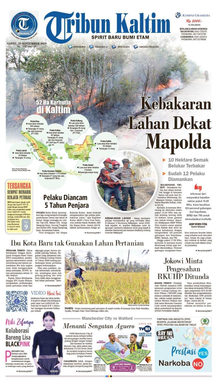 Tribun Kaltim Digital Newspaper 21 September 2019