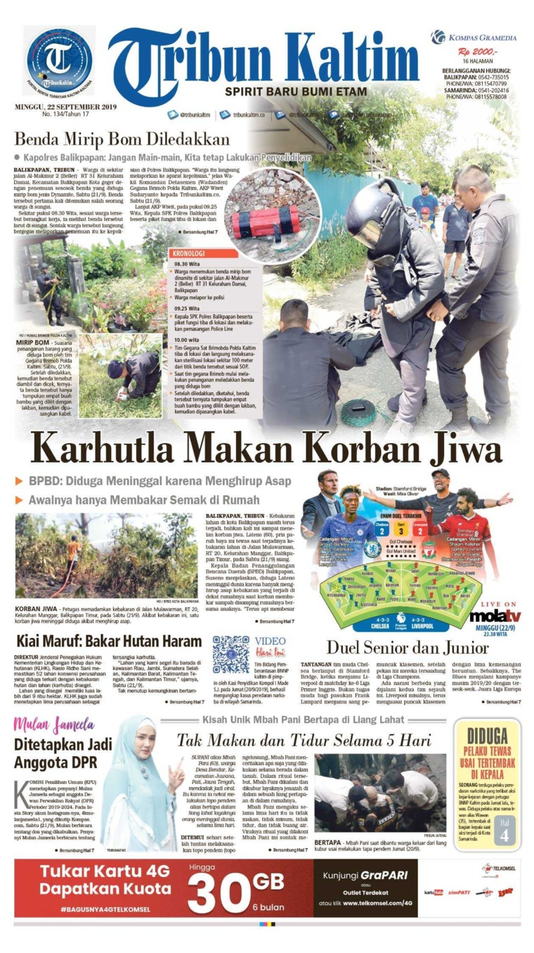 Tribun Kaltim Digital Newspaper 22 September 2019