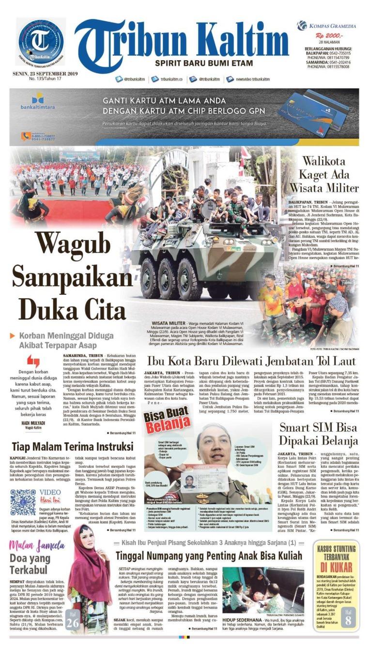 Koran Digital Tribun Kaltim 23 September 2019