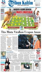 Cover Tribun Kaltim 27 Mei 2018