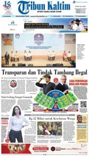Cover Tribun Kaltim 23 Juni 2018