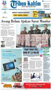 Cover Tribun Kaltim 20 Juli 2018