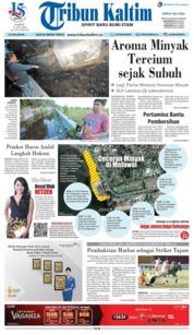 Cover Tribun Kaltim 21 Juli 2018