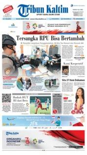 Cover Tribun Kaltim 17 Agustus 2018