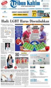 Cover Tribun Kaltim 19 Oktober 2018