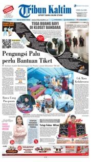 Cover Tribun Kaltim 21 Oktober 2018