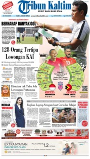 Cover Tribun Kaltim 13 November 2018