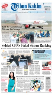 Cover Tribun Kaltim 22 November 2018