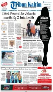 Cover Tribun Kaltim 15 Januari 2019