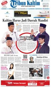 Cover Tribun Kaltim 18 Januari 2019