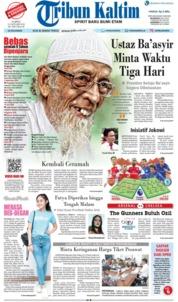 Cover Tribun Kaltim 19 Januari 2019