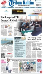 Cover Tribun Kaltim 23 Januari 2019