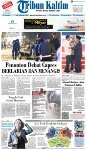 Cover Tribun Kaltim 18 Februari 2019