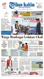 Tribun Kaltim Cover 18 March 2019