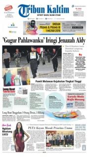 Cover Tribun Kaltim 22 Maret 2019