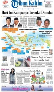 Cover Tribun Kaltim 24 Maret 2019
