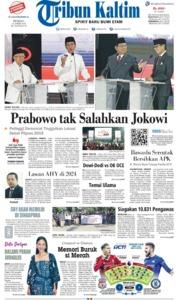 Cover Tribun Kaltim 14 April 2019