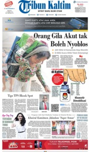 Cover Tribun Kaltim 15 April 2019