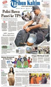 Cover Tribun Kaltim 16 April 2019