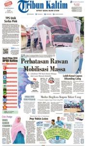 Cover Tribun Kaltim 17 April 2019