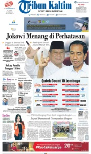 Cover Tribun Kaltim 18 April 2019