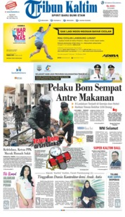 Tribun Kaltim Cover 22 April 2019