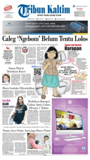 Tribun Kaltim Cover 26 April 2019