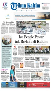 Tribun Kaltim Cover 19 May 2019