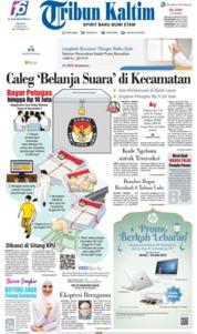 Cover Tribun Kaltim 20 Mei 2019