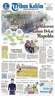 Cover Tribun Kaltim 21 September 2019