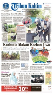 Cover Tribun Kaltim 22 September 2019