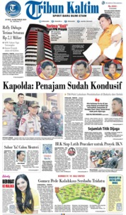 Cover Tribun Kaltim 18 Oktober 2019