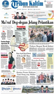 Tribun Kaltim Cover 21 October 2019
