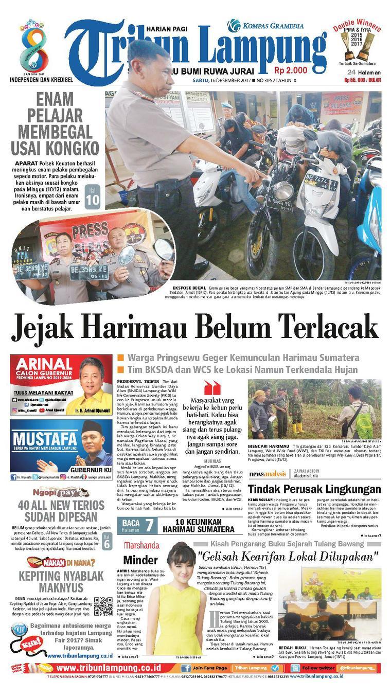 Koran Digital Tribun Lampung 16 Desember 2017