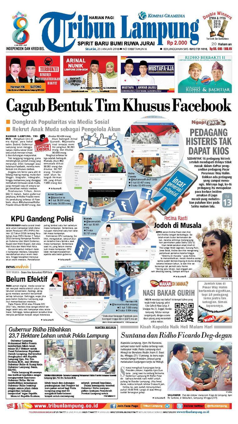Koran Digital Tribun Lampung 23 Januari 2018