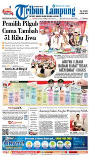 Tribun Lampung Cover 18 March 2018