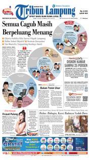 Cover Tribun Lampung 21 Maret 2018