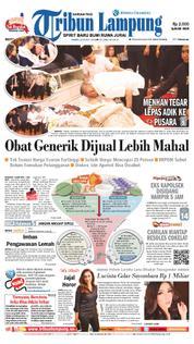 Cover Tribun Lampung 22 Maret 2018