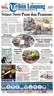 Cover Tribun Lampung 23 Maret 2018
