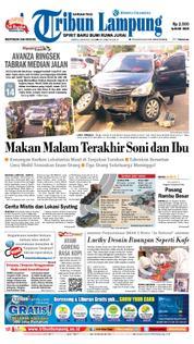 Cover Tribun Lampung 24 Maret 2018