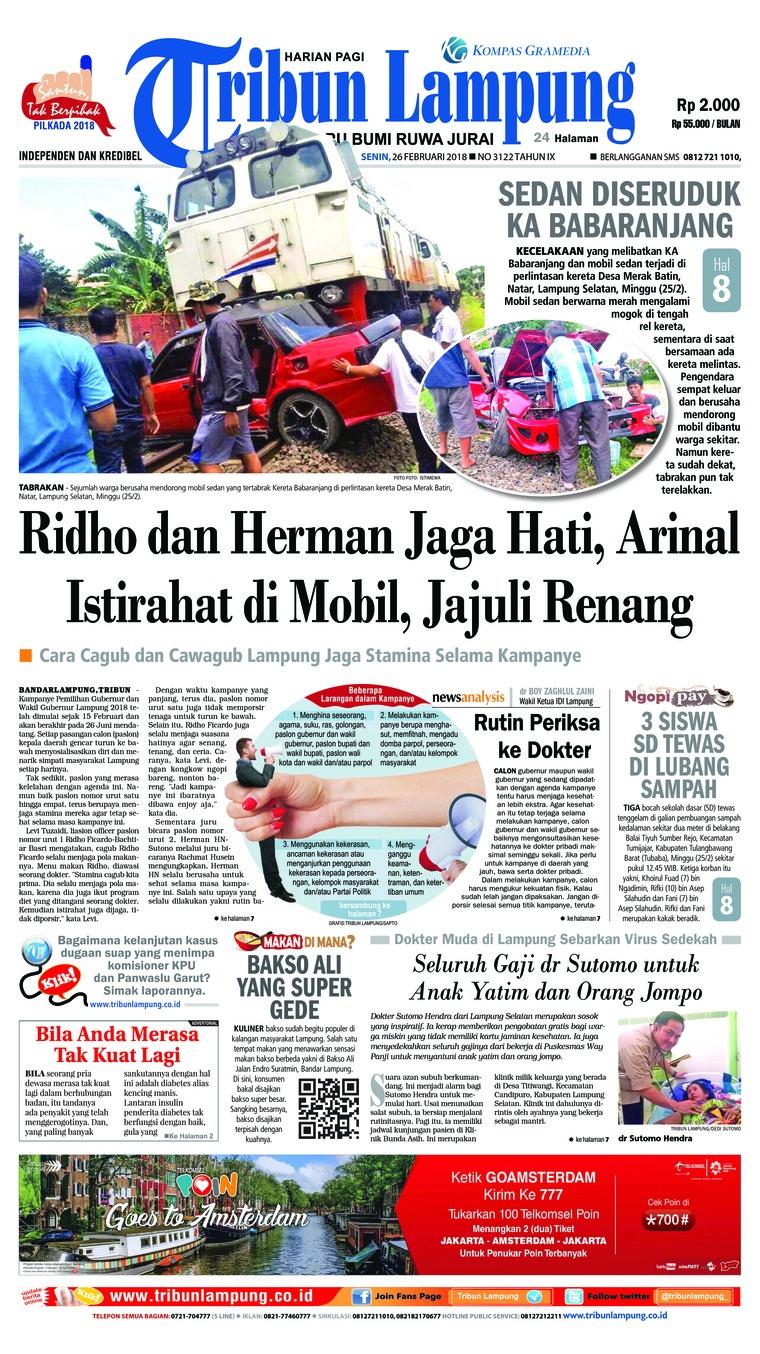 Koran Digital Tribun Lampung 26 Februari 2018